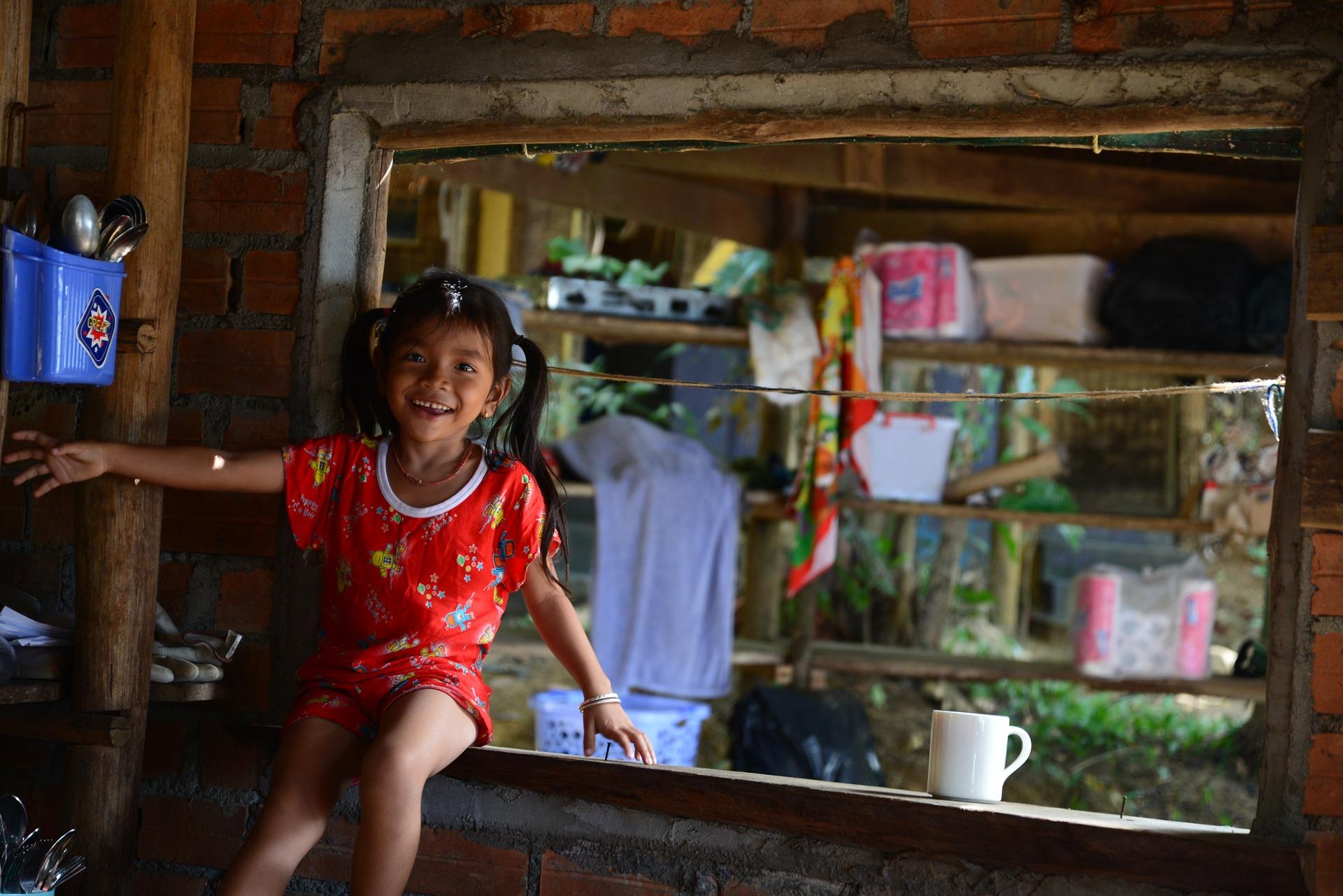 Kambodscha Kinder Corona